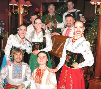 ensemble of Ukrainian songs and orchestra