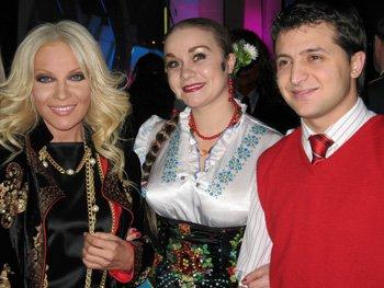 Таисия Повалий, Владимир Зеленский и Ольга Токарь.